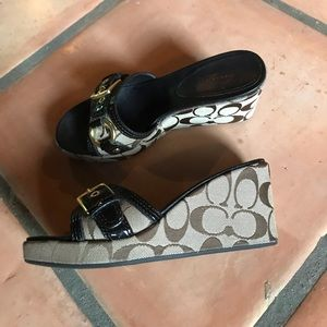 "Coach 2"" wedges with buckle"